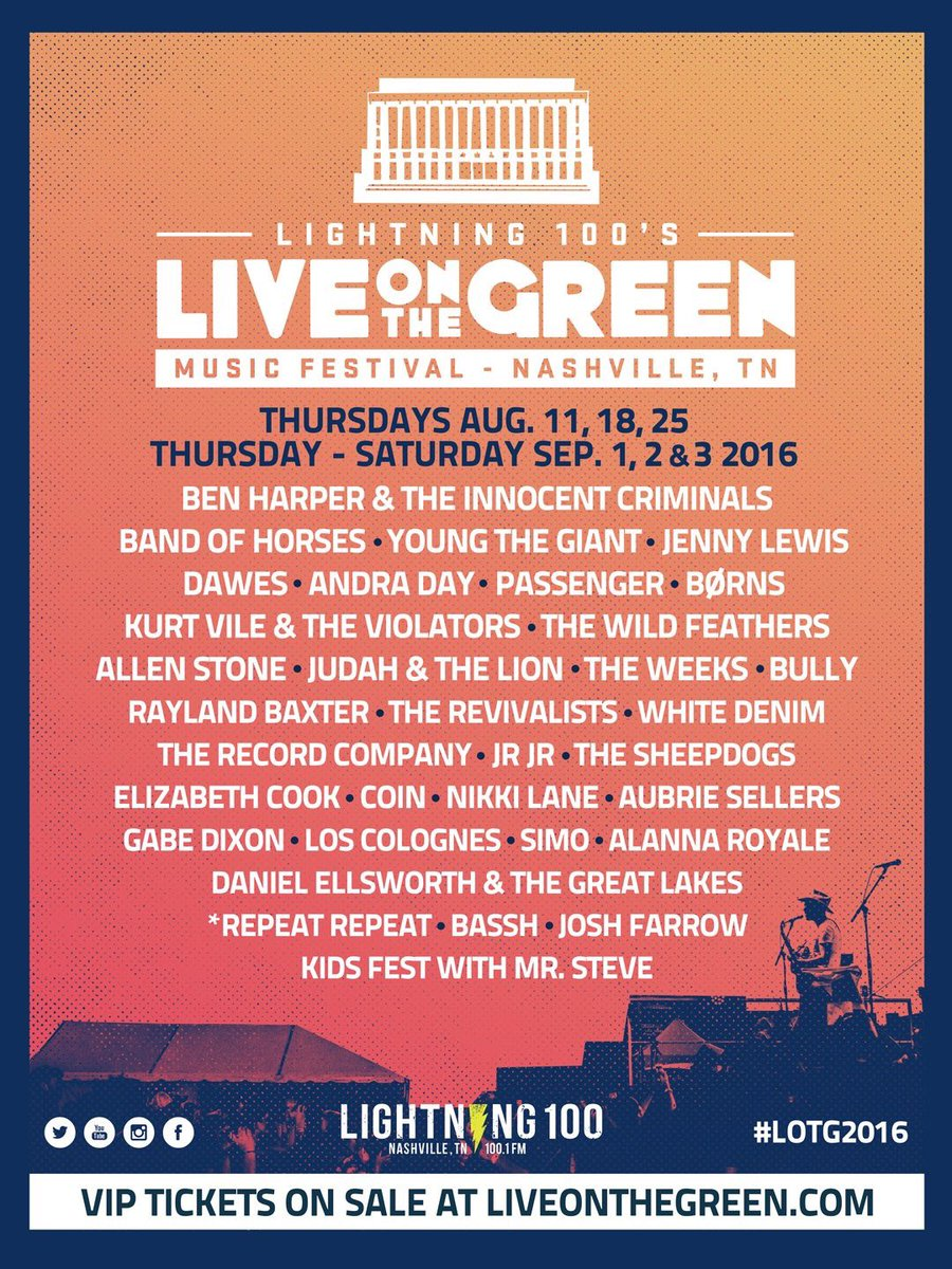 Here it is! Your official #LOTG2016 lineup! https://t.co/iAncA7Io5U