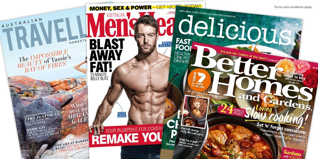 Earn 8 points per $1 on your favourite mags with @iSUBSCRiBEAU plus free delivery within AU: