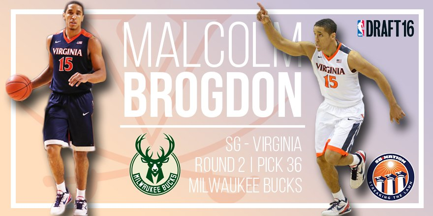 Congratulations to the Milwaukee @Bucks — you won the 2016 #NBADraft by picking #UVA's Malcolm Brogdon! https://t.co/YQokbwzSIU