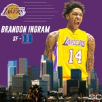 With the No. 2 overall pick in the 2016 NBA Draft, the LA Lakers select Brandon Ingram. https://t.co/E3EqvDnJZt