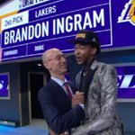 Brandon Ingram is going Hollywood. The Lakers make the Duke forward the No. 2 pick in the #NBADraft. https://t.co/uAGMGzFwse