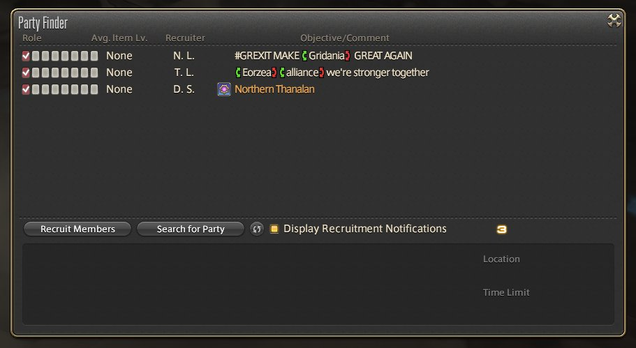 Party finder at the moment. #ffxiv #moogle https://t.co/cA9pchNqIb