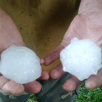 Viewer photo from Southern Halifax County, VA. Near baseball-size hail.(Credit: Lowery family in Alton) @ABC13Wx https://t.co/H8pOlZDM4d