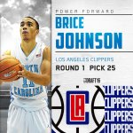 With the 25th pick in the #NBADraft, LA Clippers select Brice Johnson, PF out of North Carolina. https://t.co/gJOfq5Fhwh