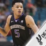 With the 29th pick the #SpursDraft Dejounte Murray.    #GoSpursGo https://t.co/92NwRMskUA