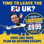 Planning a getaway this October? A million seats from £9.99. Book by midnight #Brexit #EUref #DavidCameron #Cameron https://t.co/27rJ8iPz8F