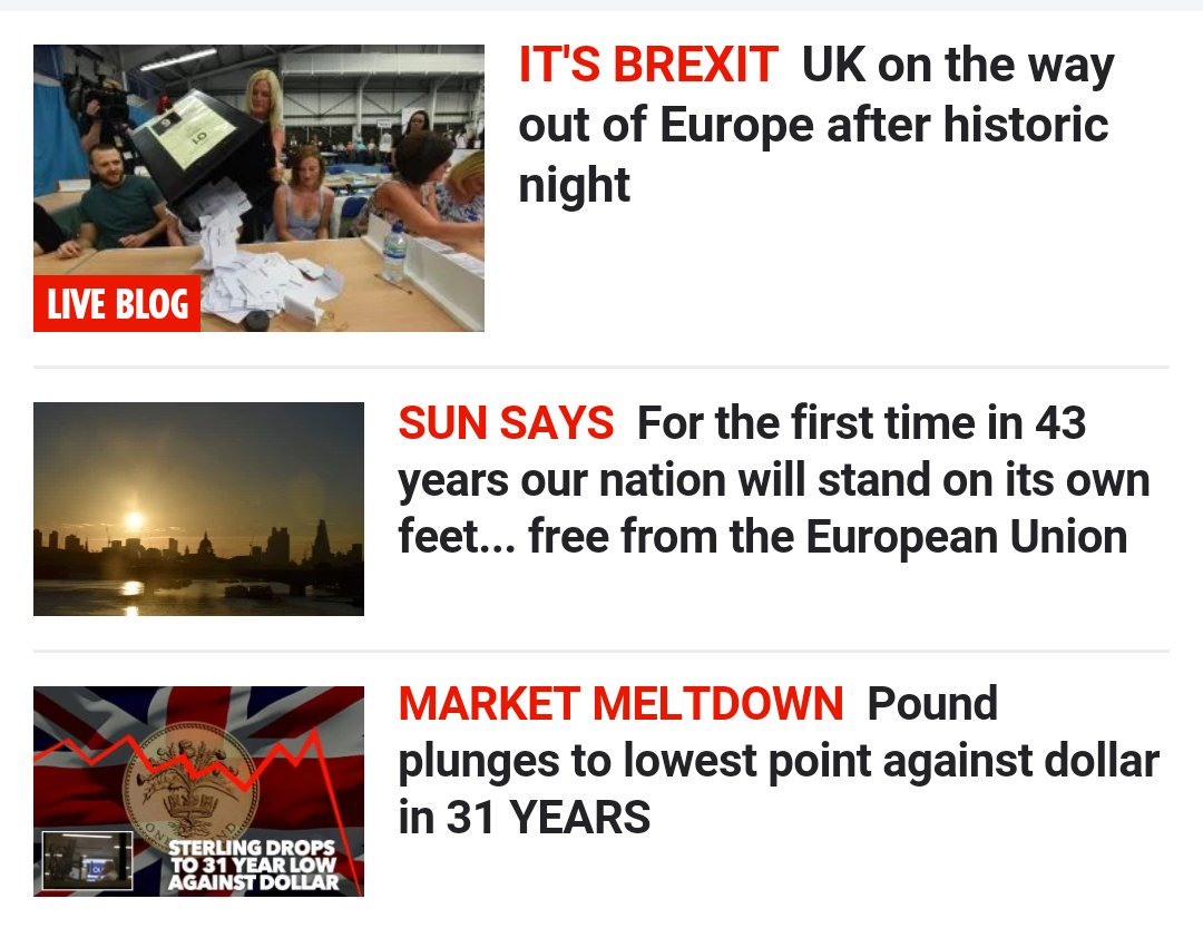 The Sun homepage obeying the comedy rule of three https://t.co/HsmmvSJtsn