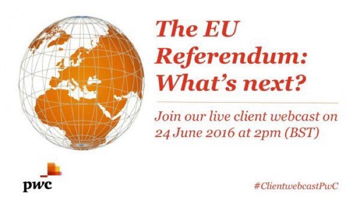 With the results in, join our live webcast today at 2pm to discuss the implications  https://t.co/vH0bYRhCyw #EURef https://t.co/zNf2eTbdtn