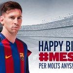 Hoy Messi cumple 29 años ¡Muchas felicidades! ¡No te dejes el hashtag #Messi29 en tus felicitaciones! https://t.co/bWiNECBLmi