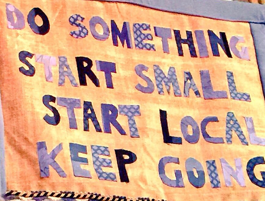 DO SOMETHING. START SMALL, START LOCAL, KEEP GOING https://t.co/imqMqGWOz8