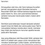 Amalan2 Rasulullah Di 10 Malam Terakhir Ramadhan.  Semoga kita bertemu Lailatul Qadar & amalan kita diterima Allah. https://t.co/tQt05CQ5h5