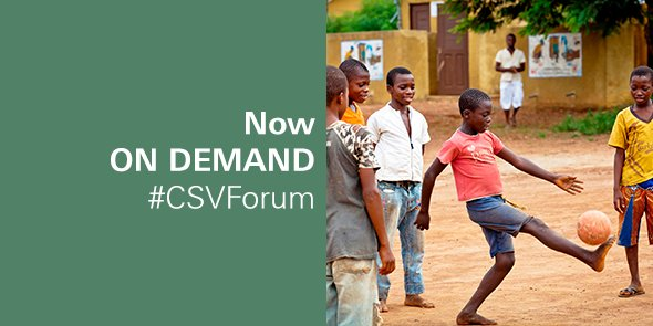 #ICYMI: Our recent #CSVForum focused on sustainable development in Africa. Watch on demand: https://t.co/jM53YLtCVZ https://t.co/n1MQSf7lB1