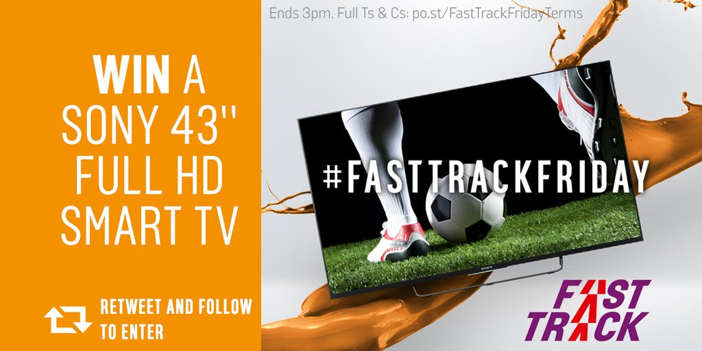 We've got that #FastTrackFriday feeling
