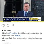 Apparently Buhari is behind #Brexit https://t.co/MVoCi0TjbH