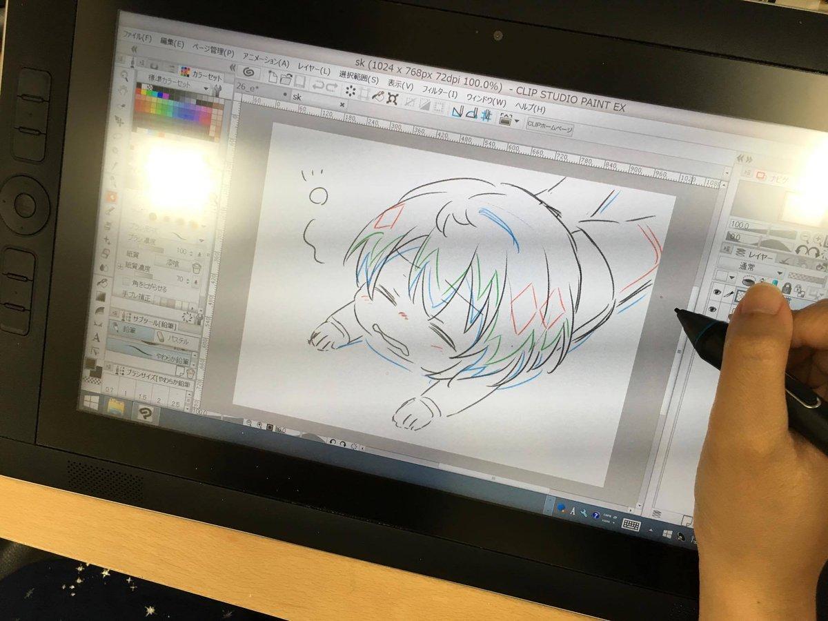 制作会社のCreators in Pack 大阪スタジオにて、原画さんが息抜きで書いていたスカーレットを発見!鋭意制作中
