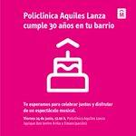 Hoy festejamos los 30 años de Policlínica Aquiles Lanza, Montevideo Salud está en tu barrio https://t.co/qhSa6LAbWp