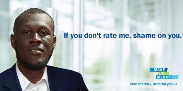 Does @Stormzy1 have your vote? #StormzyForPrimeMinister https://t.co/9tK7fUzCEK