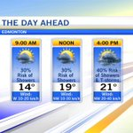 #YEG still unsettled. Sun&cloud to start. Could still see scattered showers this am, greater risk this afternoon https://t.co/88raVRZuW8
