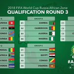 The groups for #Russia2018 qualification. Only Group winners to qualify. Lets just plan for Qatar 2022???? #Nigeria https://t.co/cEI87OTbHl