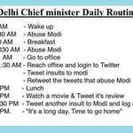 This is the Routine of cheap minister #DeshVirodhiAAPCong https://t.co/8e0wWJD4Zi