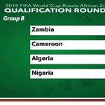 #SaharaSports: Nigeria Battle Zambia, Cameroon, Algeria In Group B Of 2018 FIFA W/Cup Qualifiers https://t.co/o6Kd27BjE3