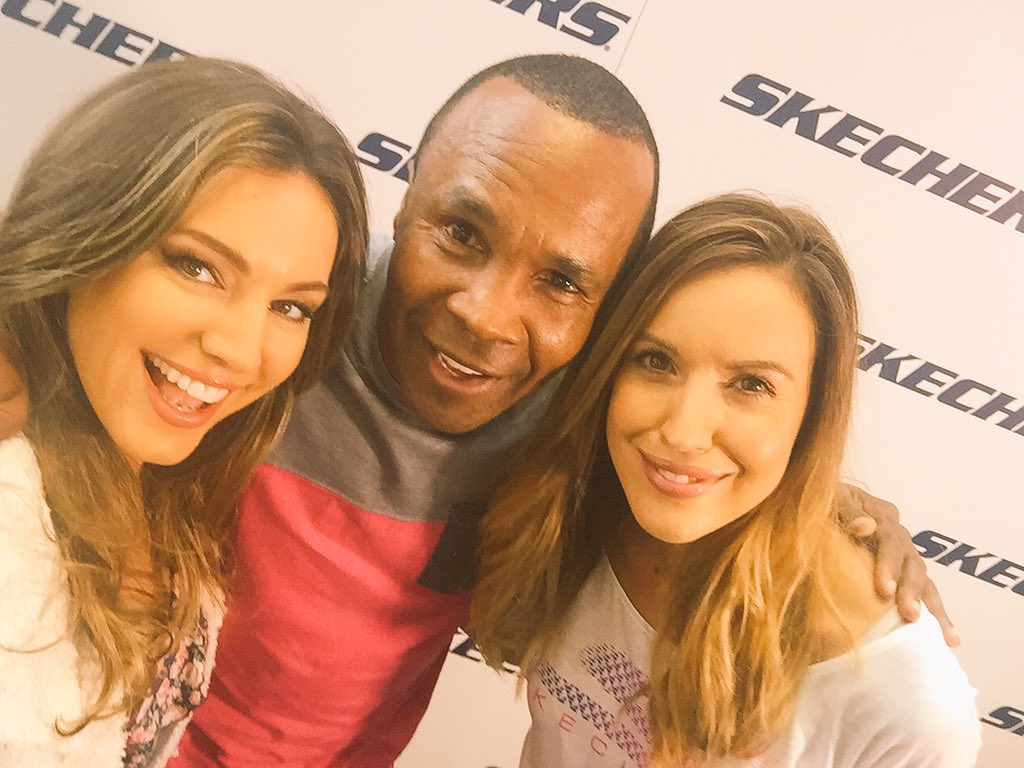 At the new @SKECHERS_UK HQ with @SKECHERS_UK @SugarRayLeonard @CharlieCW https://t.co/eOZeQOdwYy