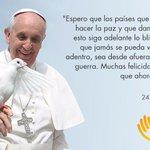 Gracias @Pontifex_es por tenernos siempre en sus oraciones ¡Queremos que siga iluminando nuestros esfuerzos de paz! https://t.co/thO6qMDoeD