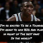 Victor Oladipo (@VicOladipo) expressed excitement about the opportunity in OKC. Already showing love to the fans. https://t.co/ZkqTueeumd