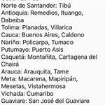 Estás serán las zonas veredales en las que se concentrarán las FARC. Información de @mindefensa #Colombia https://t.co/7dV0ebSQ2G