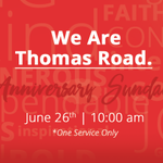 THIS SUNDAY: one service at 10a! Join us as we celebrate our 60th anniversary. #WeAreTRBC https://t.co/Z8ujz5UzXI
