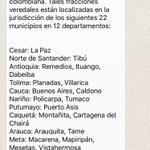 Estos son los municipios donde se ubicarán las FARC durante 6 meses para dejar las armas https://t.co/4GUNZXsGLk