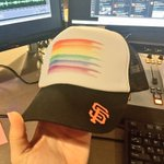 Tonights @SFGiants #Pride2016 LGBT Night giveaway. Not bad. Id rock one this weekend in the stro! #OrlandoStrong https://t.co/aUfEr6pzK0