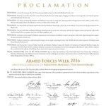 The Proclamation is signed and Armed Forces Celebration Week has begun! https://t.co/Xf0w9C1td4