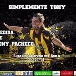 En una hora estaremos en vivo con @Subrayado en el lanzamiento del partido despedida de Antonio Pacheco https://t.co/OtGaRrkRGt