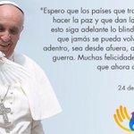 Gran mensaje hoy del Papa Francisco sobre la Paz de Colombia. Simplemente, Sí a la Paz @JuanManSantos @sicsuper https://t.co/Zae9Owh0e9