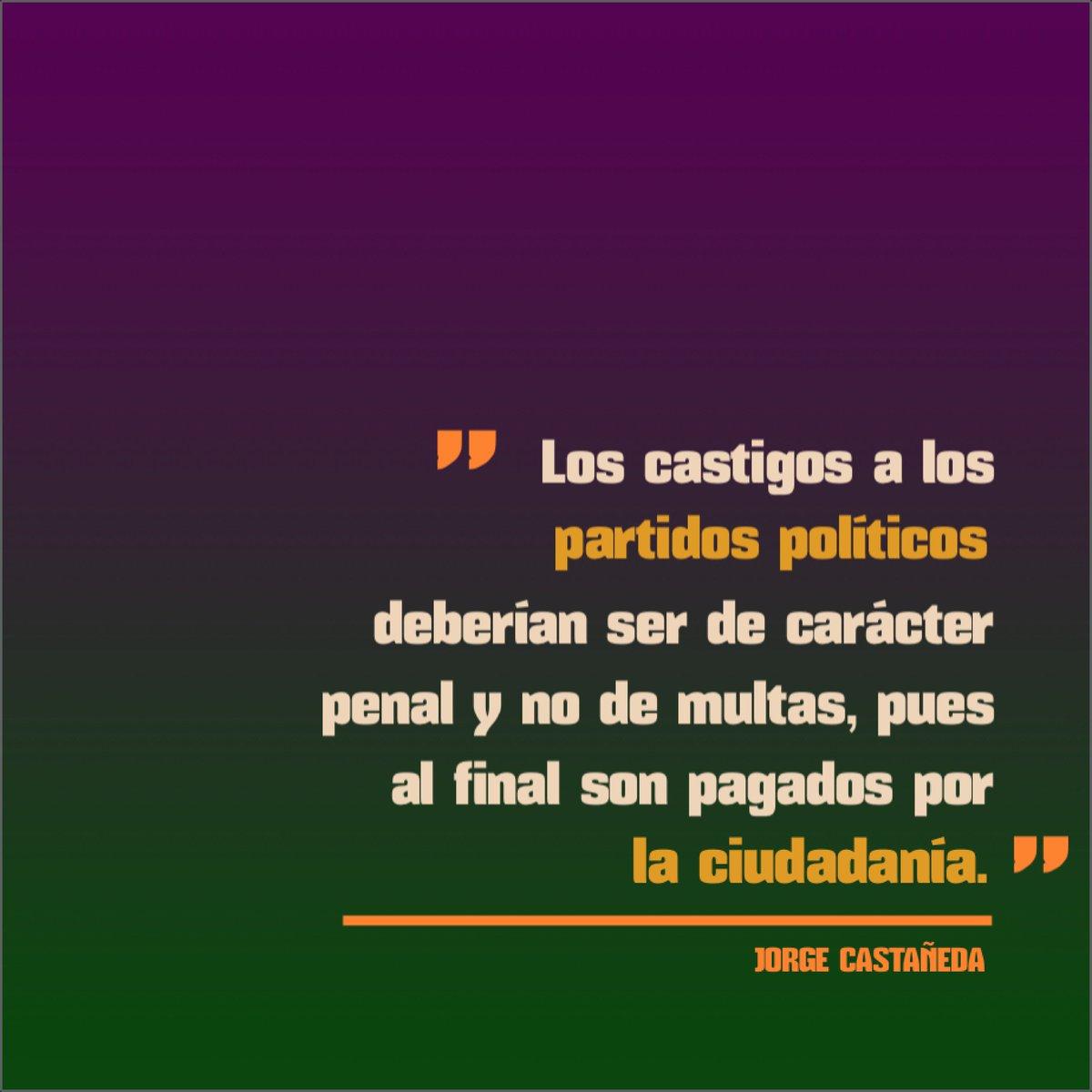 Siempre he considerado que los castigos a los partidos políticos, son una burla para la sociedad.#AgendaCiudadana https://t.co/u7o5MY13Jo