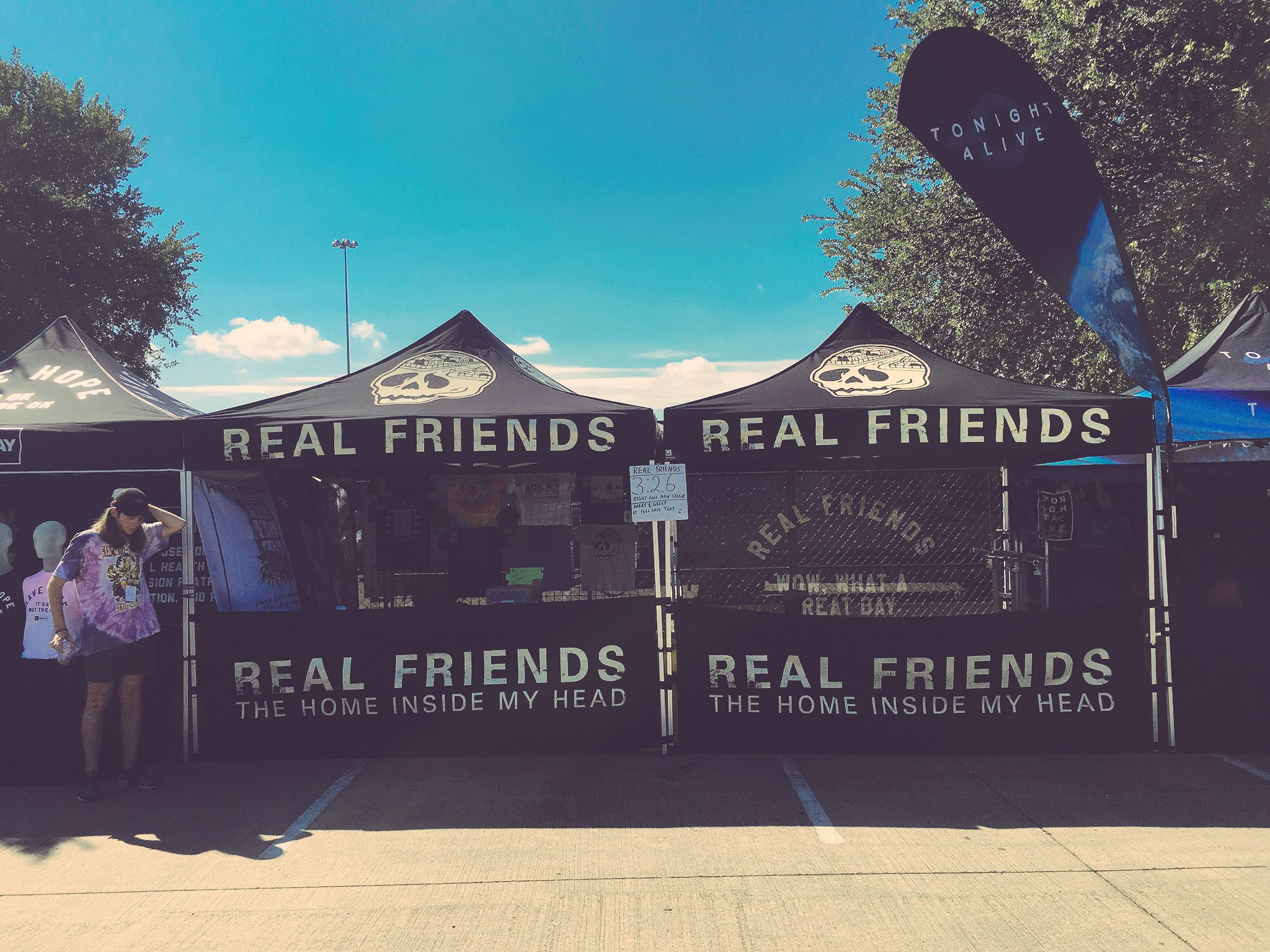 Dallas! Our merch tent is near the @FullSail stage and across from the @TrojanCondoms tent. 😎 https://t.co/09psB2ZYUp