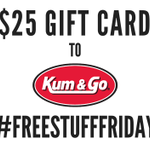 FREE STUFF FRIDAY! This week were giving away a $25 Kum & Go GC! RT/Fav to win! https://t.co/hrcEKUXouO