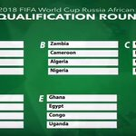 All the African 2018 World Cup qualifying groups. #EGY get #GHA again. Chance for revenge? Or consolidation? #AFWCQ https://t.co/zLNDWZp8X2