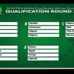 NIGERIA drawn alongside Zambia, Cameroon and Algeria in Group B of the #2018WCQ African Zone Qualification Round 3. https://t.co/tThnMqcEM3