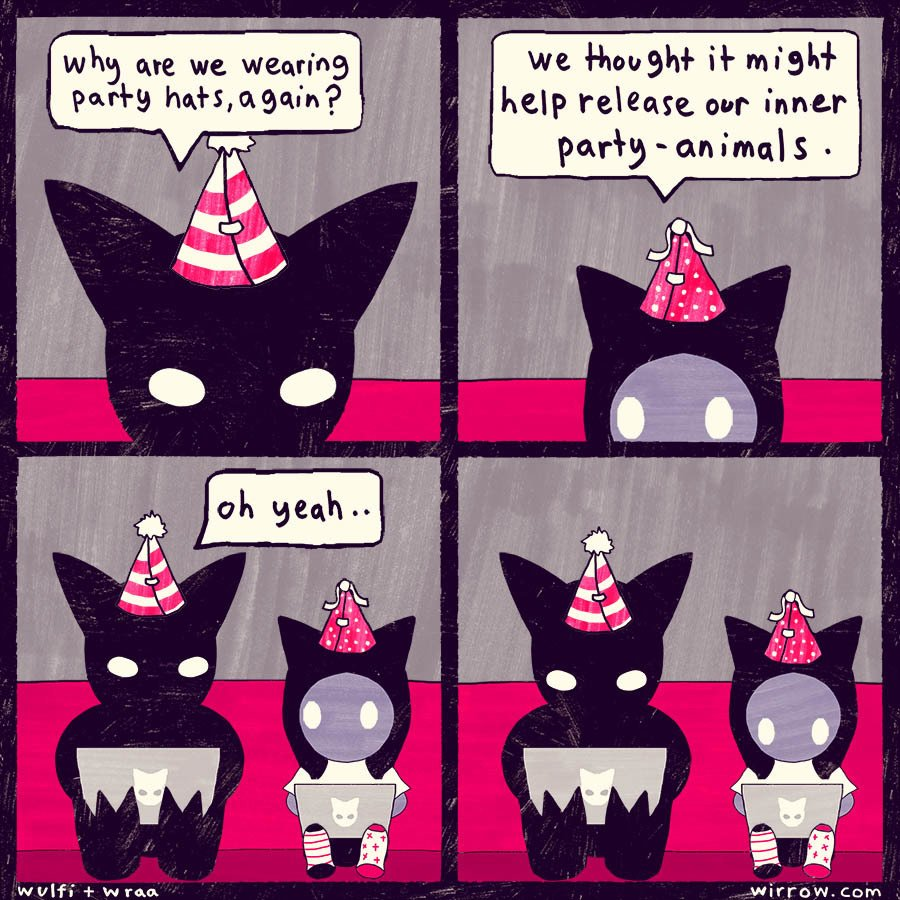 RT @hitRECord: Happy Friday to all you party animals out there! https://t.co/9hjsL7qNux https://t.co/g8dKgqza92