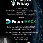 Lets solve tomorrows problems together at #startupfriday Future Hack courtesy @ngrinnovation Abuja,July 1 Join us https://t.co/v7FsVb5r3g