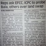 EFCC, ICPC to probe Bala...Lol, so many people wont sleep fine again in days to come. Thumbs up to the rule of law! https://t.co/2CYNifgvUp