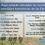El @mindefensa reveló la ubicación de las 23 Zonas Veredales donde se concentrarán las Farc. https://t.co/lFFiNHbptH https://t.co/CsetbJKbeF