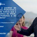 Eu non quero a parálise de España para Galicia. Preferimos a política estable de #Galicia #Feijoo #EspañaAFavor https://t.co/MjIY18CHV5