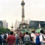 Ya avanza la Marcha de la #CNTE del Ángel de la Independencia al Hemiciclo a Juárez @Formato21GRC @jet1403 https://t.co/gnGs9Qwwly