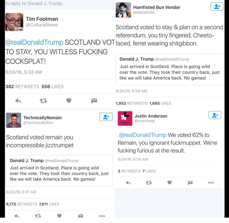 Scottish name calling Trump. Love it. :) https://t.co/rBvvBvcT0l