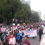 Miles ya marcha del Angel de la Independencia al Zócalo. En apoyo a la CNTE. https://t.co/TX1zuRbaWP