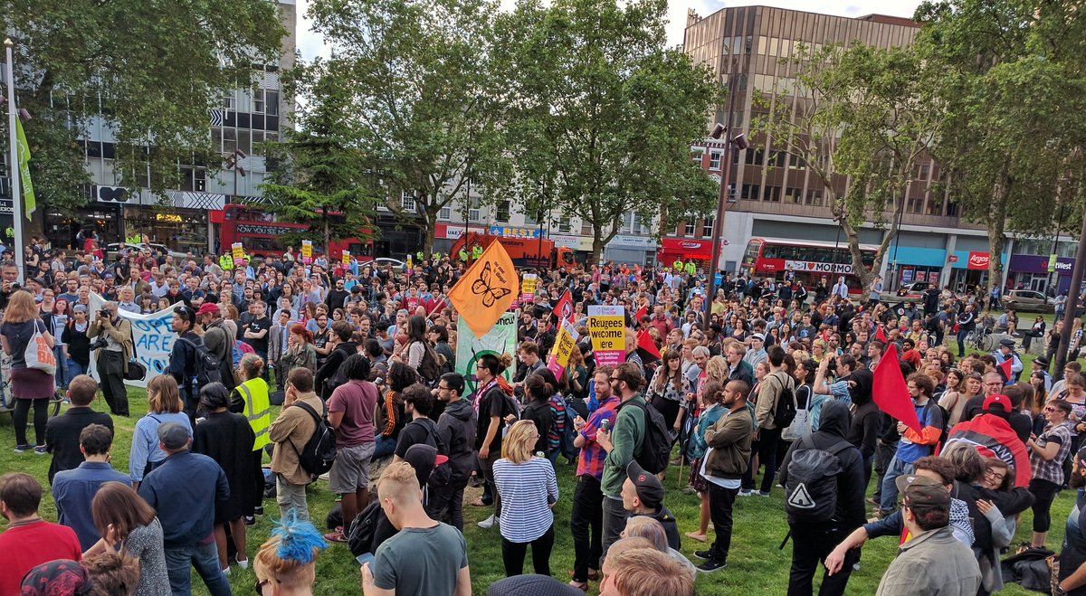 Defend Migrant Rights demo at Altab Ali Park in Whitechapel https://t.co/KEJbDBC9eo