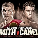 CONFIRMED: @LiamBeefySmith will defend his WBO World Title v @Canelo, Sat 17 Sept live on BoxNation! #SmithCanelo 💥 https://t.co/MTRqu4Acyq